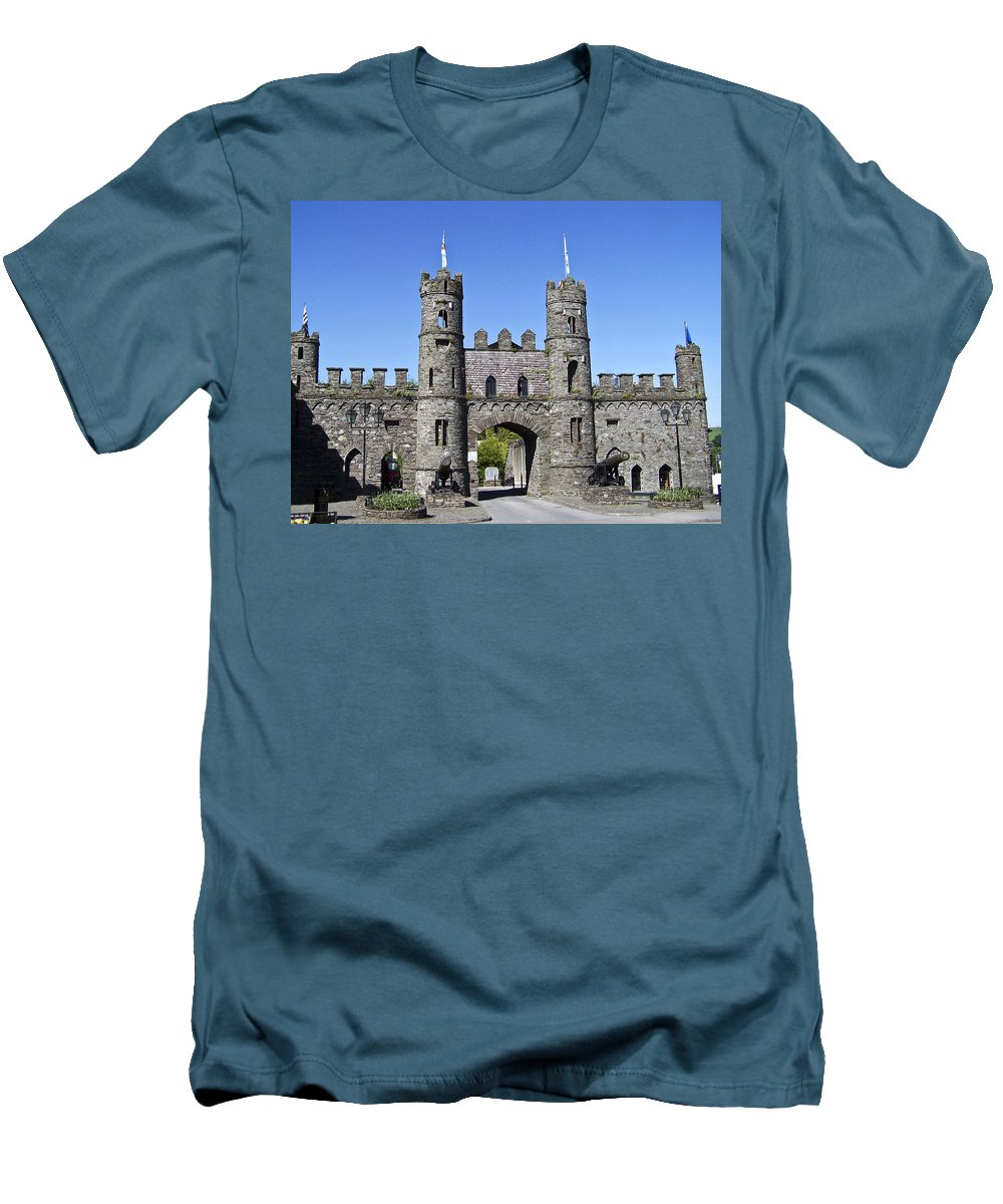 Irish Men's T-Shirt (Athletic Fit) featuring the photograph Macroom Castle Ireland by Teresa Mucha