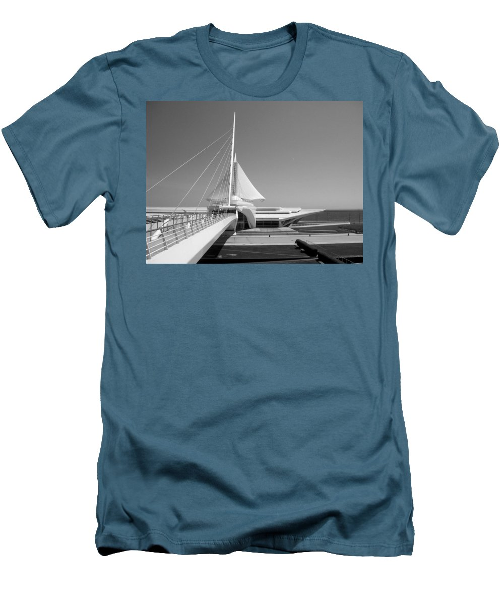 Mam Men's T-Shirt (Athletic Fit) featuring the photograph Mam Spreading Wings B-w by Anita Burgermeister
