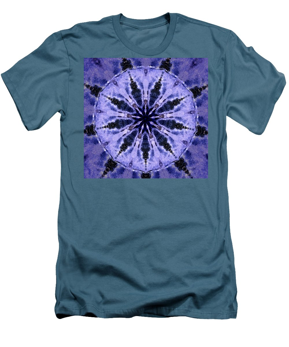 Mandala Men's T-Shirt (Athletic Fit) featuring the digital art Mandala Ocean Wave by Nancy Griswold
