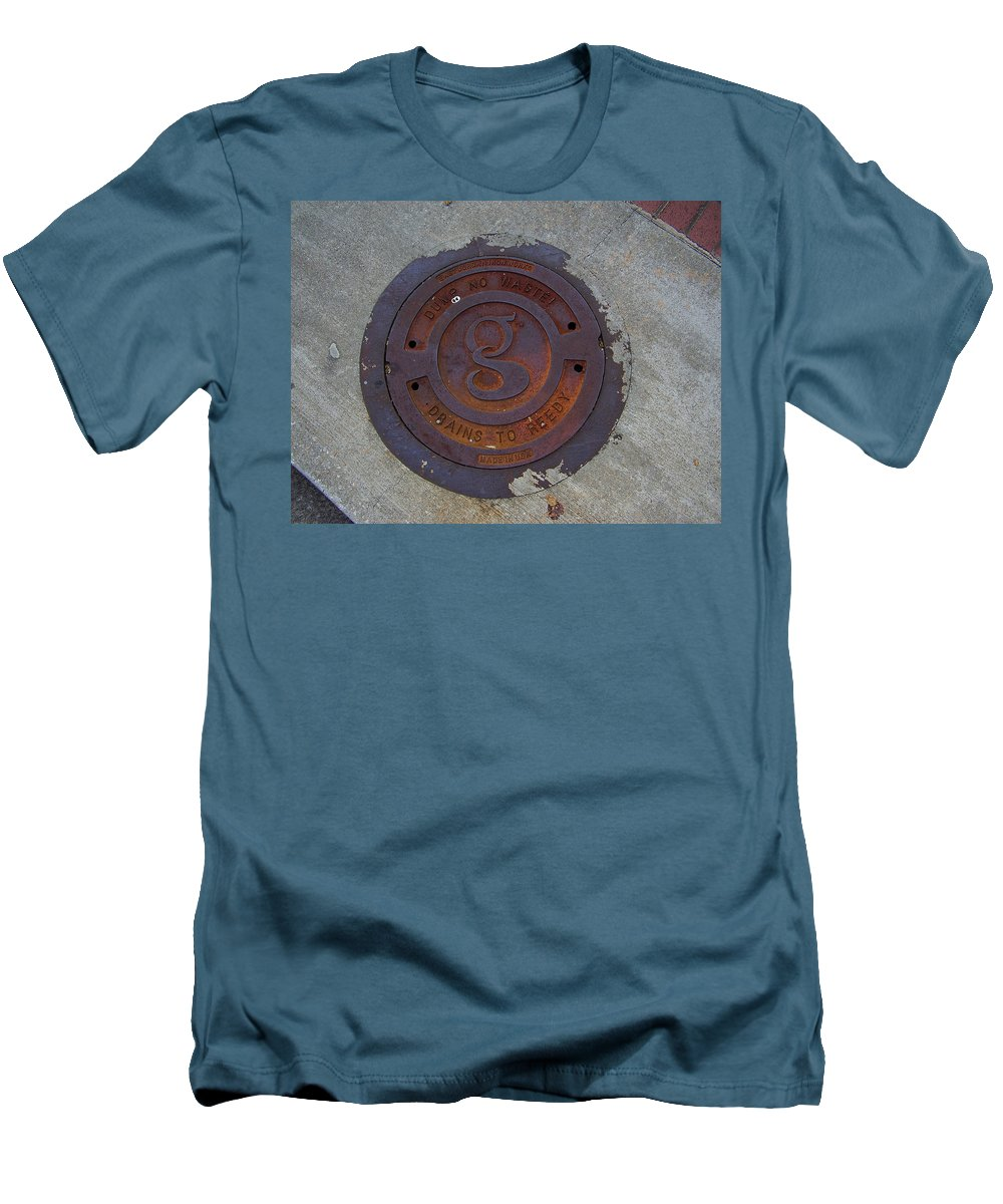 Manhole Men's T-Shirt (Athletic Fit) featuring the photograph Manhole IIi by Flavia Westerwelle