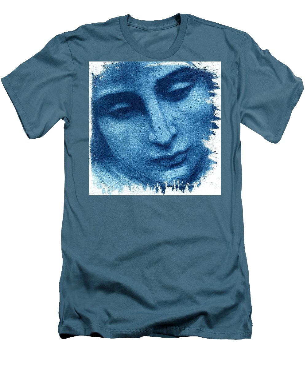 Blue Men's T-Shirt (Athletic Fit) featuring the photograph Marys Blues by Jane Linders