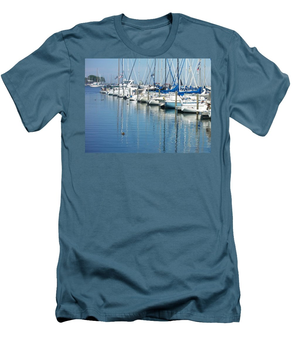 Mckinley Marina Men's T-Shirt (Athletic Fit) featuring the photograph Mckinley Marina 3 by Anita Burgermeister