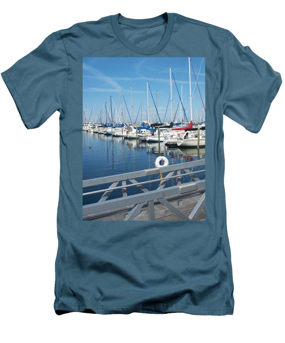 Mckinley Marina Men's T-Shirt (Athletic Fit) featuring the photograph Mckinley Marina 5 by Anita Burgermeister