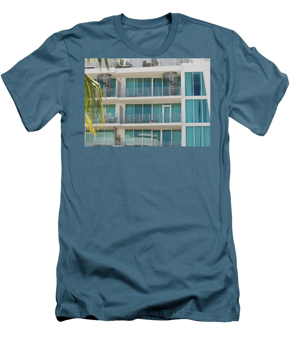 Architecture Men's T-Shirt (Athletic Fit) featuring the photograph Miami Vice by Rob Hans