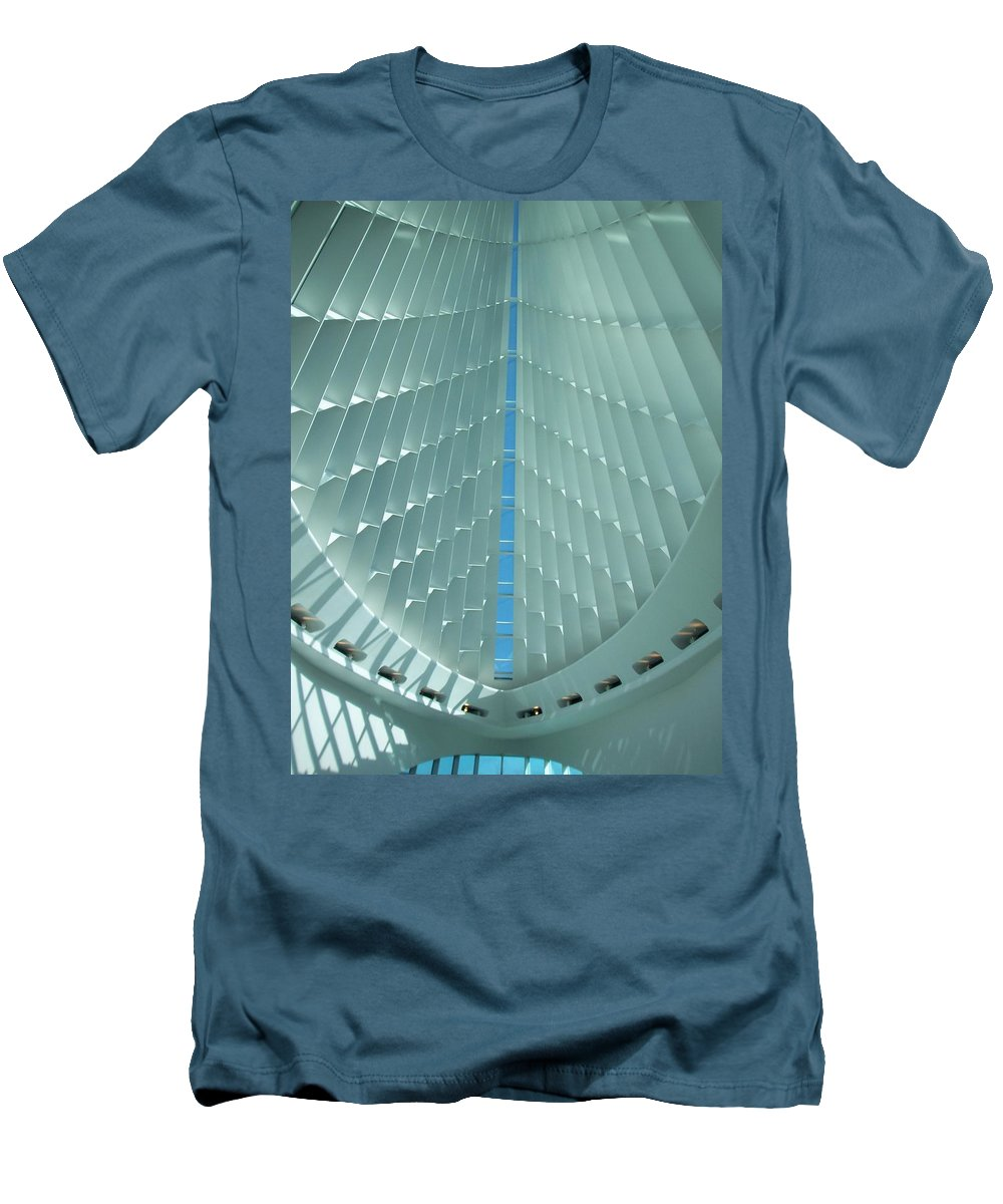 Mam Men's T-Shirt (Athletic Fit) featuring the photograph Milwaukee Art Museum Interior by Anita Burgermeister