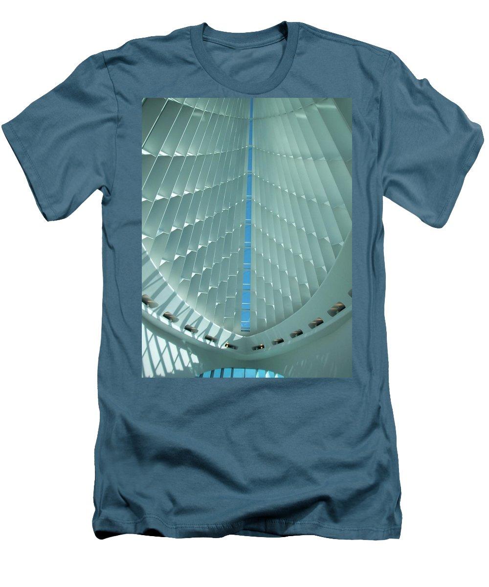 Mam Men's T-Shirt (Athletic Fit) featuring the photograph Milwaukee Art Museum Interior by Anita Burgermeister