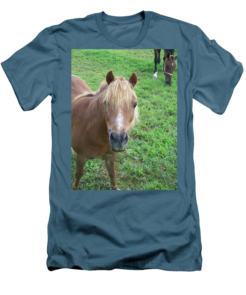 Miniture Men's T-Shirt (Athletic Fit) featuring the painting Miniature Horse by Eric Schiabor