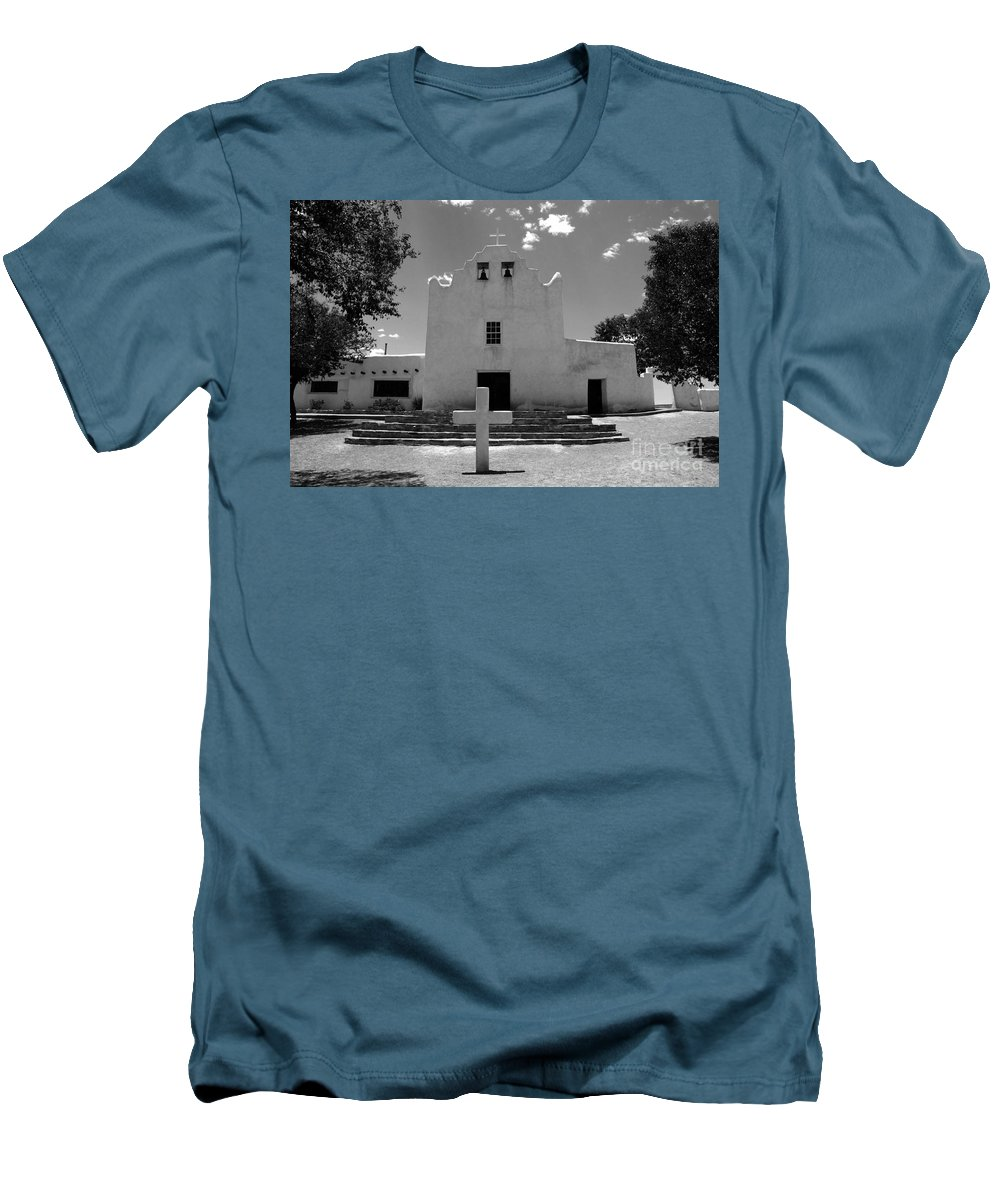 Mission San Jose Men's T-Shirt (Athletic Fit) featuring the photograph Mission San Jose by David Lee Thompson