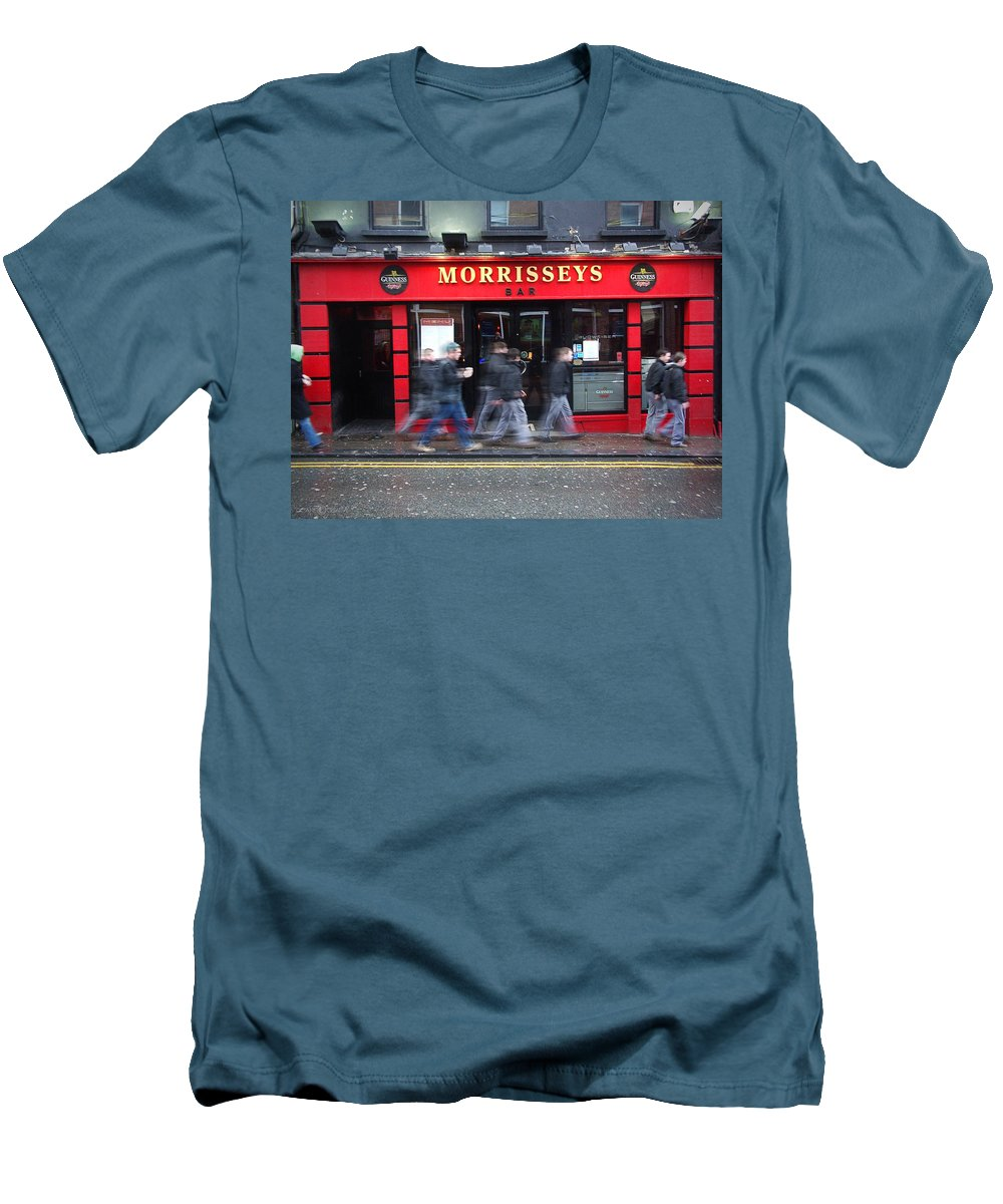 Pub Men's T-Shirt (Athletic Fit) featuring the photograph Morrissey by Tim Nyberg