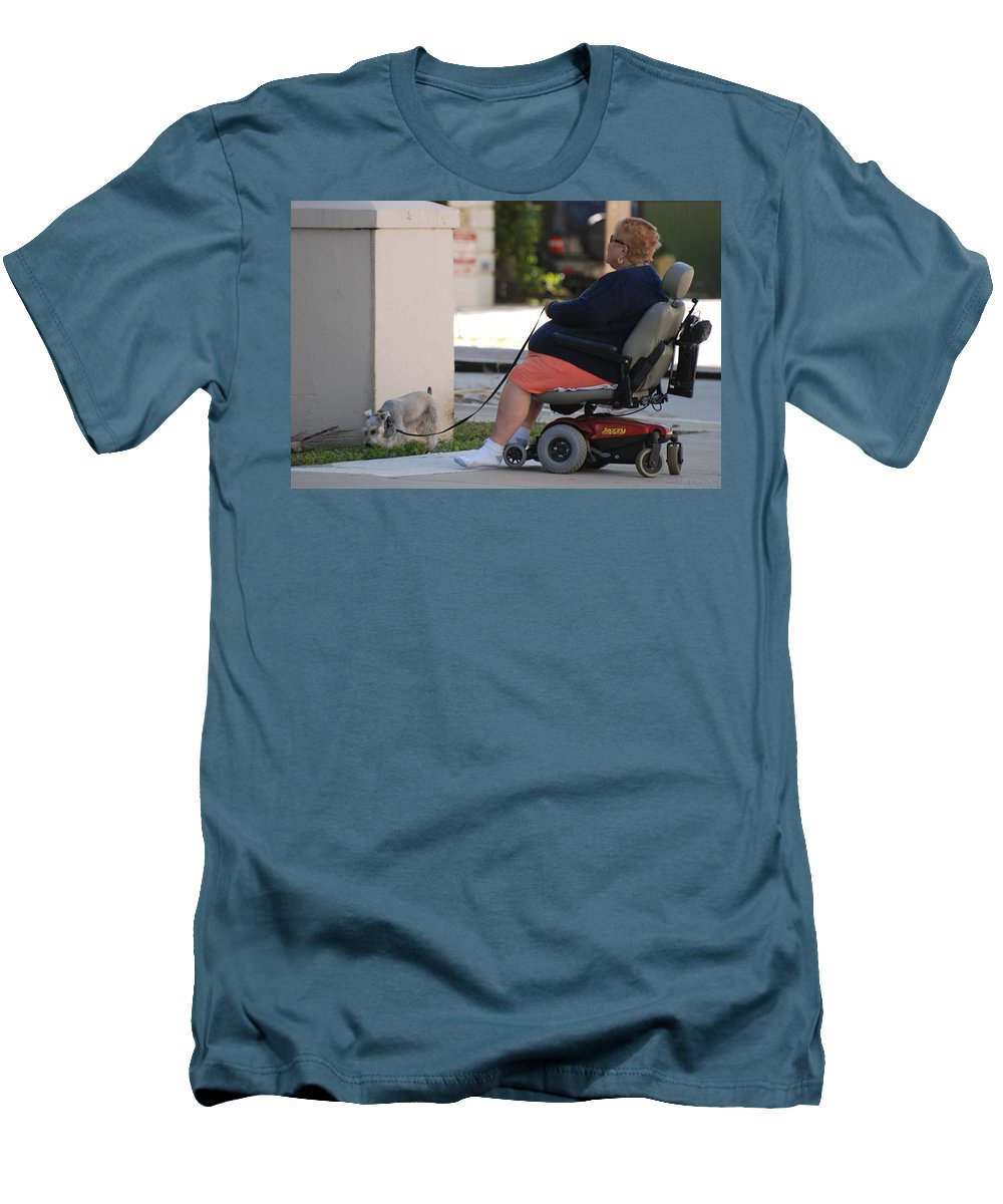 Women Men's T-Shirt (Athletic Fit) featuring the photograph Old Barefoot Women by Rob Hans