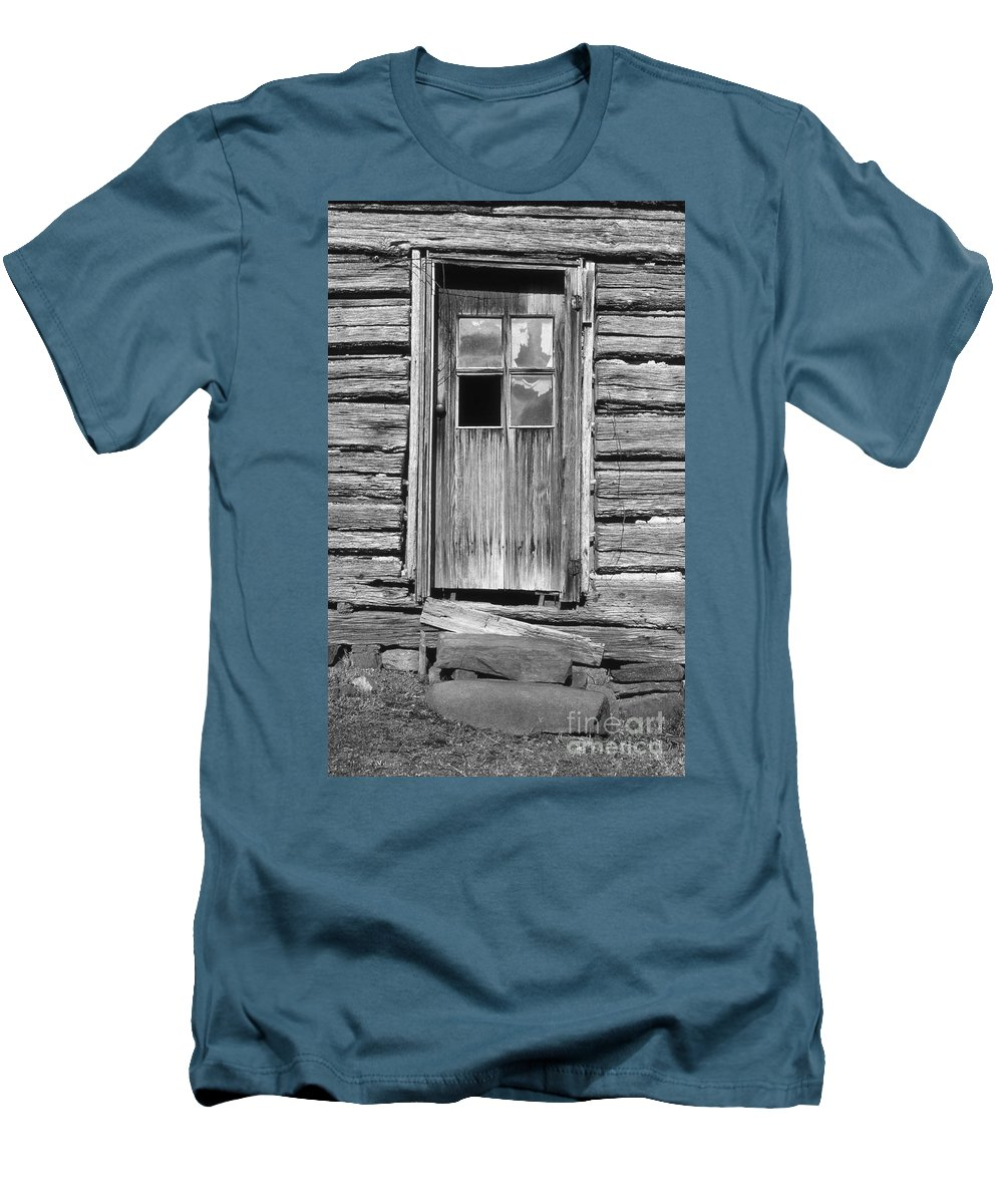 Aged Men's T-Shirt (Athletic Fit) featuring the photograph Old Door by Richard Rizzo