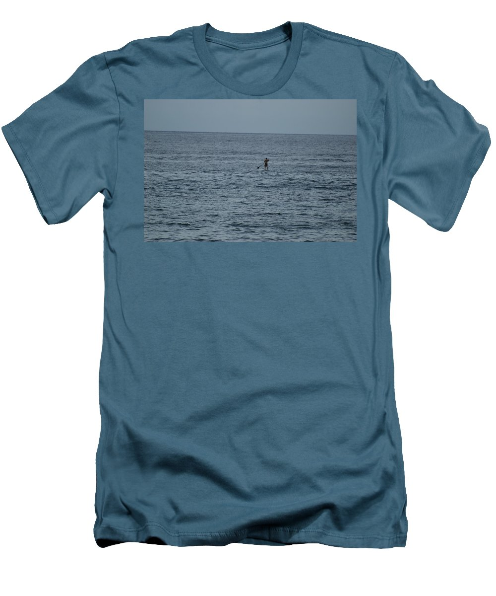 Sea Scape Men's T-Shirt (Athletic Fit) featuring the photograph Old Man In The Sea by Rob Hans