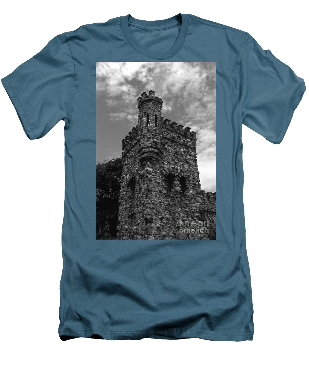 Castle Men's T-Shirt (Athletic Fit) featuring the photograph Once Upon A Time by Richard Rizzo