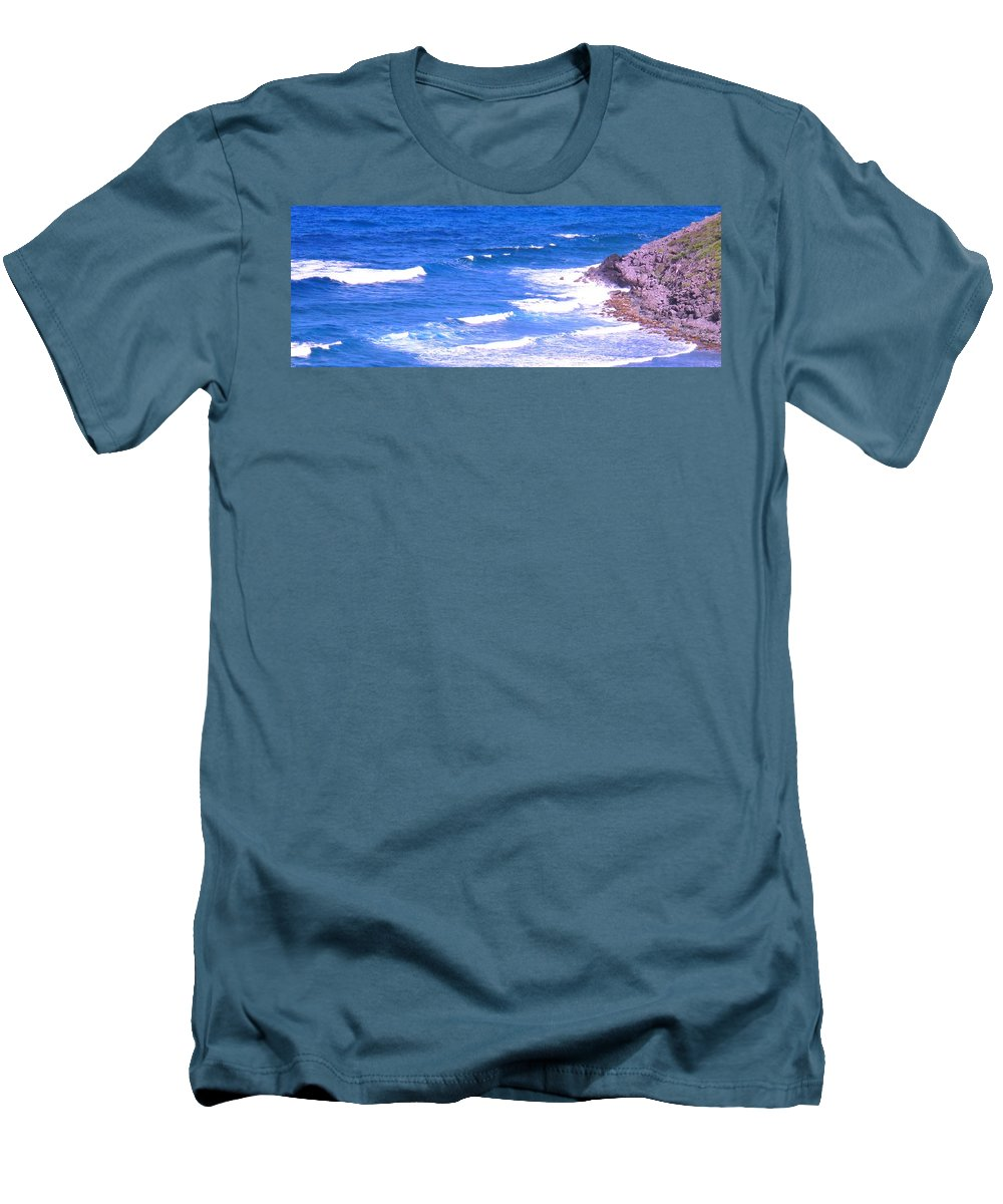 Atlantic Men's T-Shirt (Athletic Fit) featuring the photograph One After Another by Ian MacDonald
