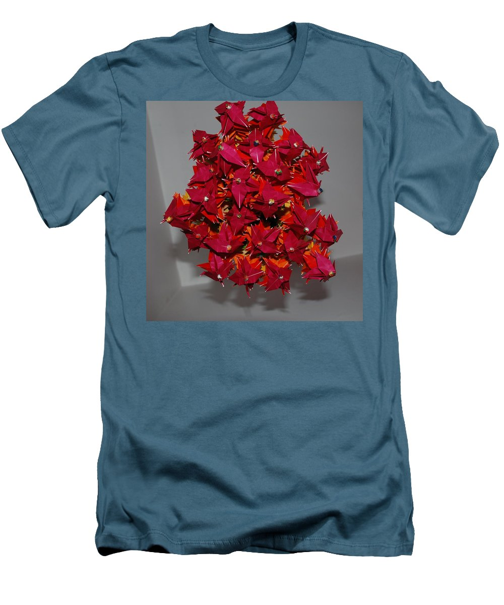 Origami Men's T-Shirt (Athletic Fit) featuring the photograph Origami Flowers by Rob Hans