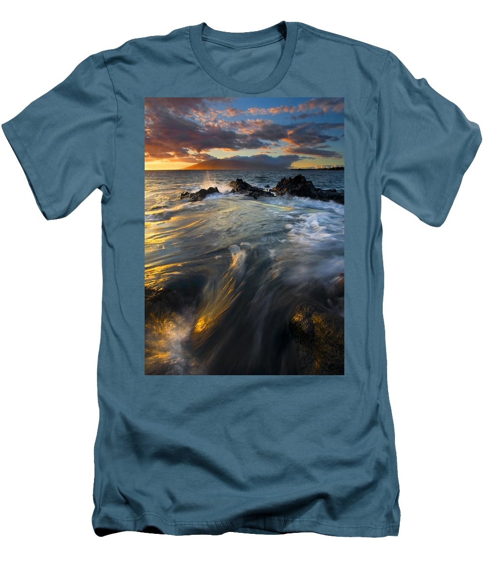 Cauldron Men's T-Shirt (Athletic Fit) featuring the photograph Overflow by Mike Dawson