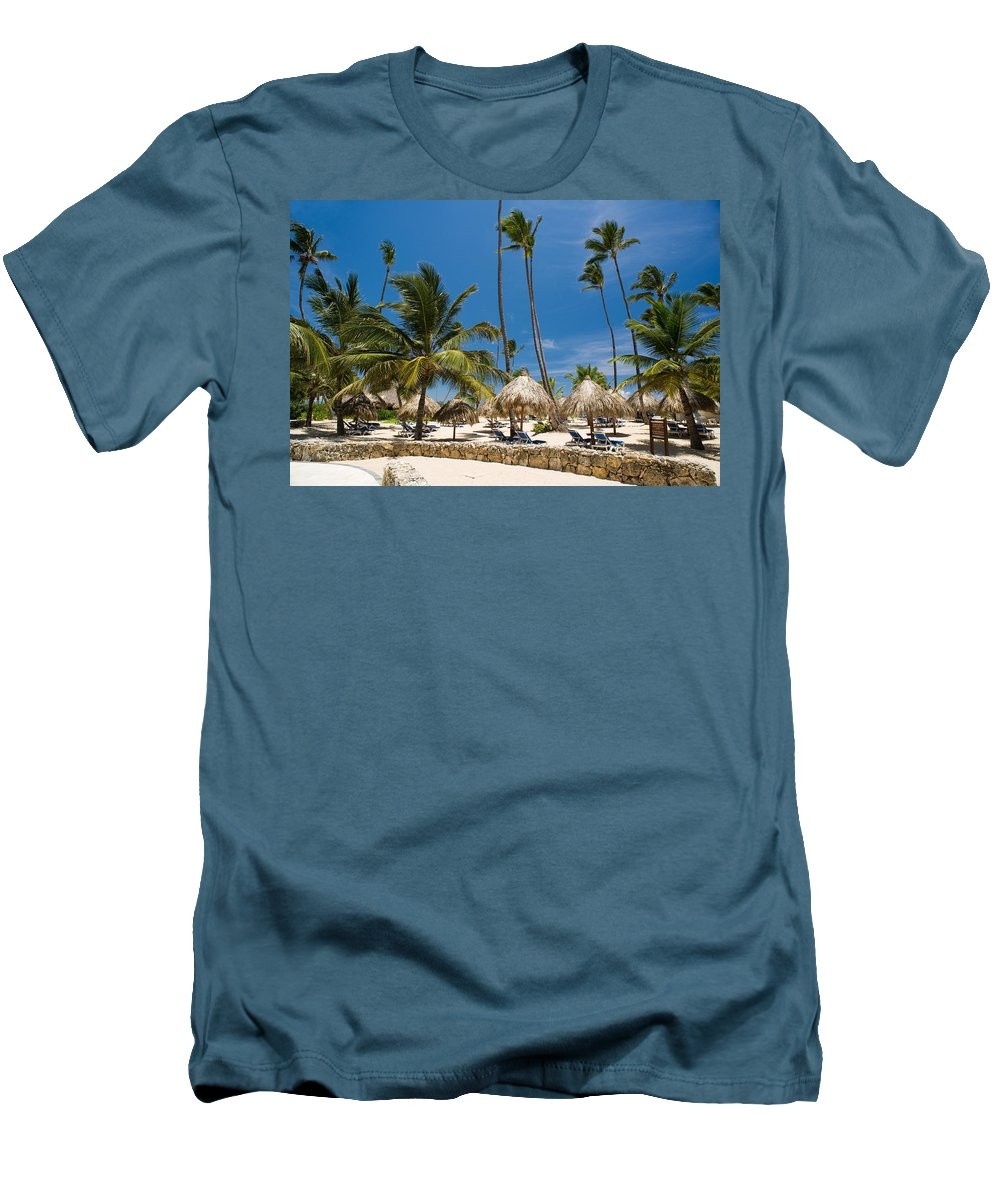 Beach Men's T-Shirt (Athletic Fit) featuring the photograph Paradise Beach by Sebastian Musial