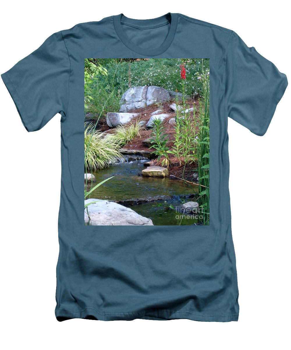 Landscape Men's T-Shirt (Athletic Fit) featuring the photograph Peaceful by Shelley Jones