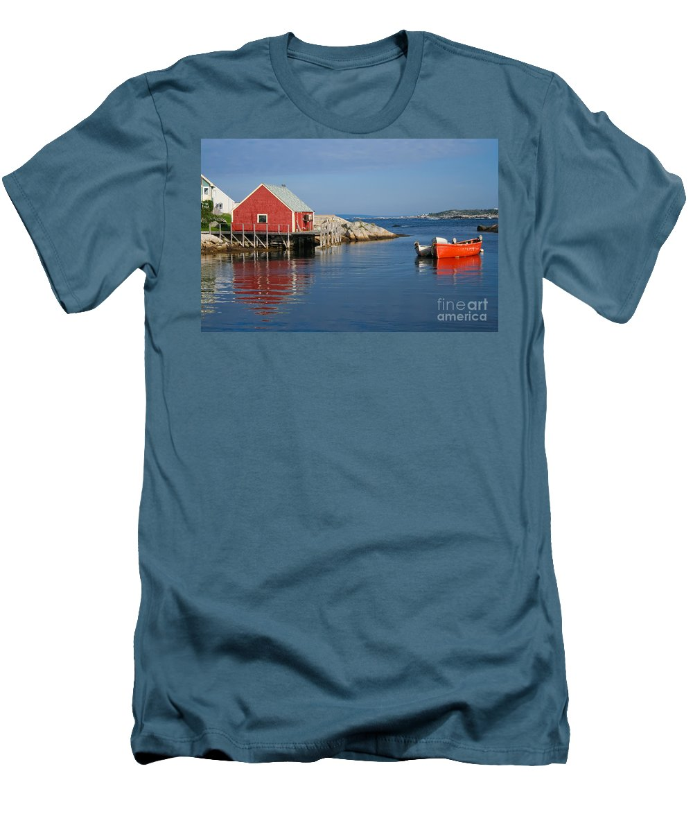 Peggy's Cove Men's T-Shirt (Athletic Fit) featuring the photograph Peggys Cove by Thomas Marchessault