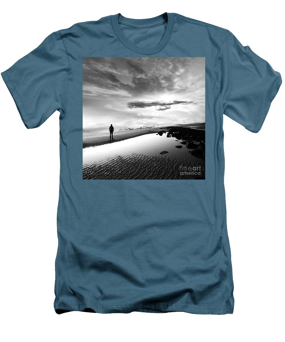 B&w Men's T-Shirt (Athletic Fit) featuring the photograph Per Sempre by Jacky Gerritsen