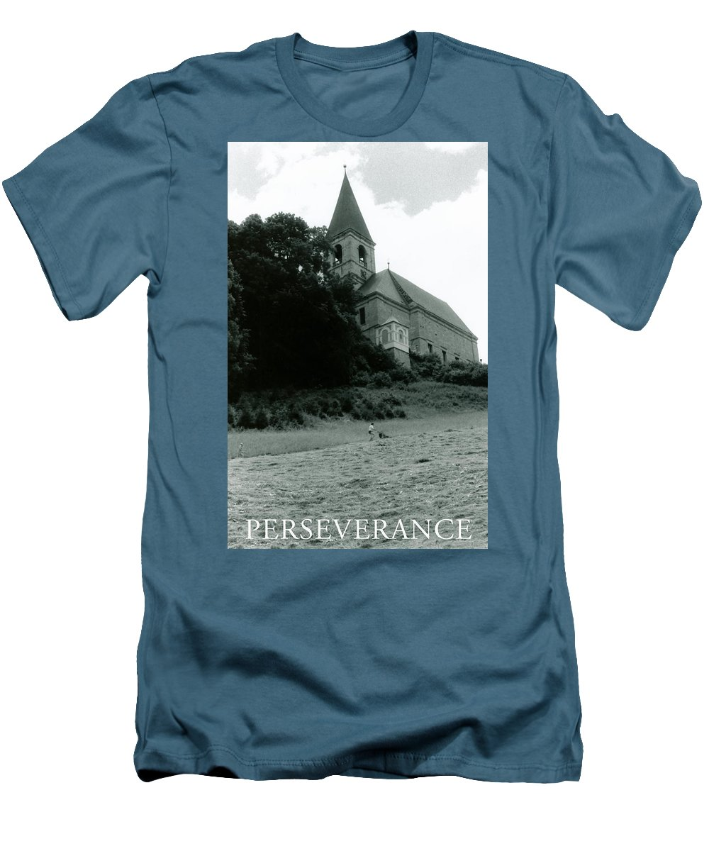 Church Men's T-Shirt (Athletic Fit) featuring the photograph Perseverance by Michelle Calkins