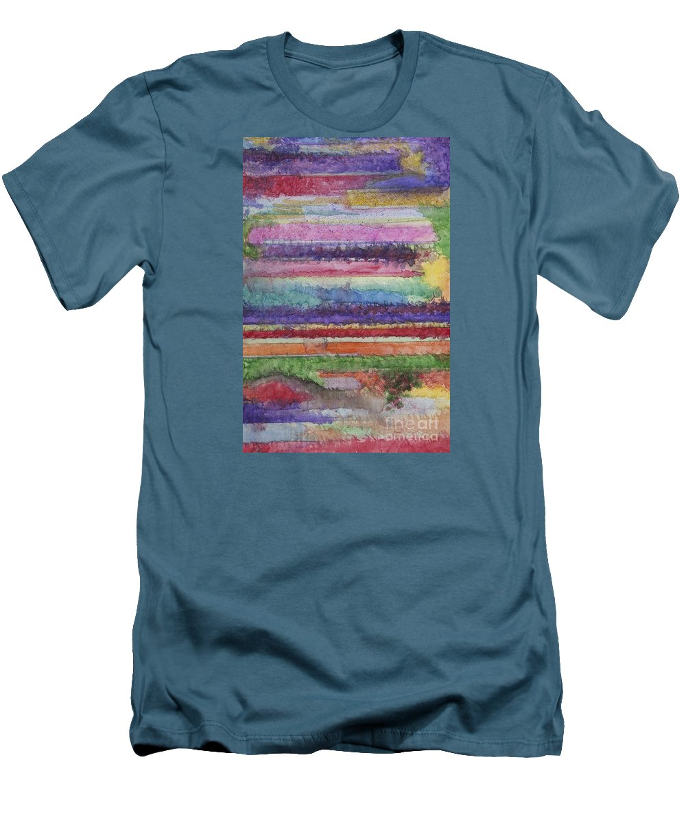 Colorful Men's T-Shirt (Athletic Fit) featuring the painting Perspective by Jacqueline Athmann