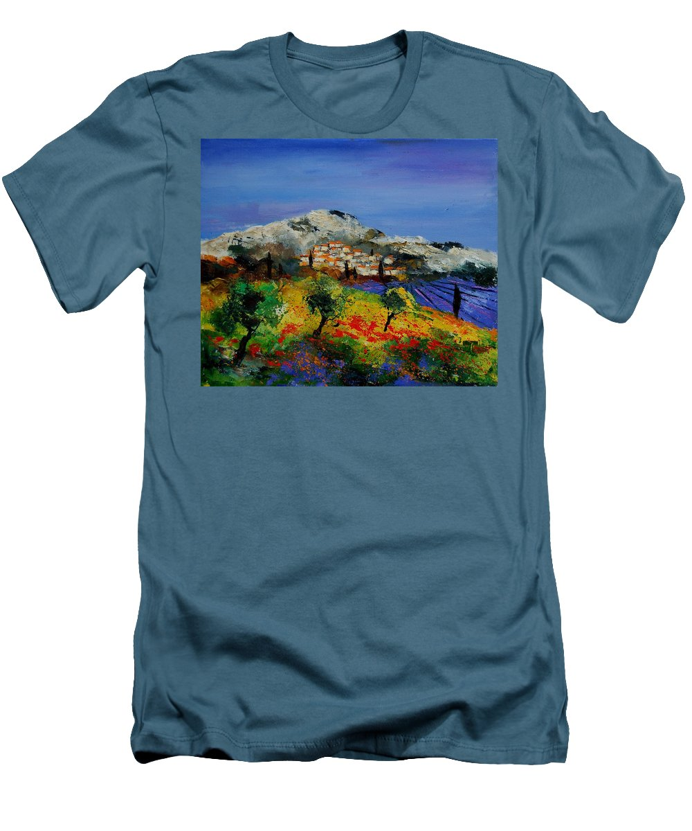 Provence Men's T-Shirt (Athletic Fit) featuring the painting Provence 569010 by Pol Ledent