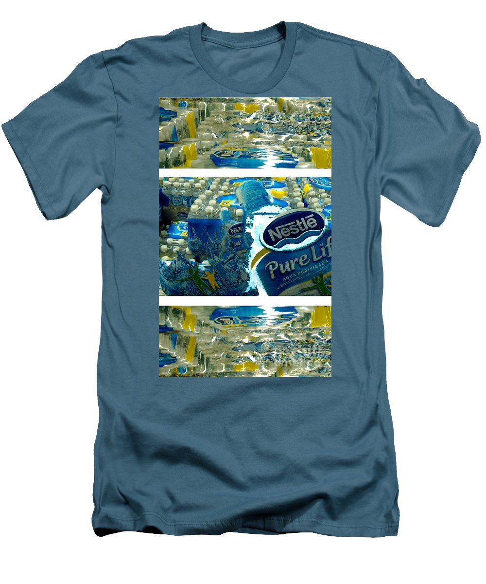 Water Men's T-Shirt (Slim Fit) featuring the photograph Pure Life by Ze DaLuz