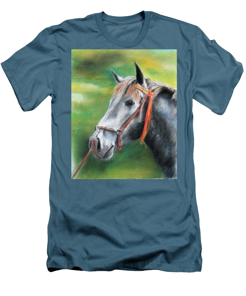 Horse Men's T-Shirt (Athletic Fit) featuring the painting Pure Spanish by Ceci Watson