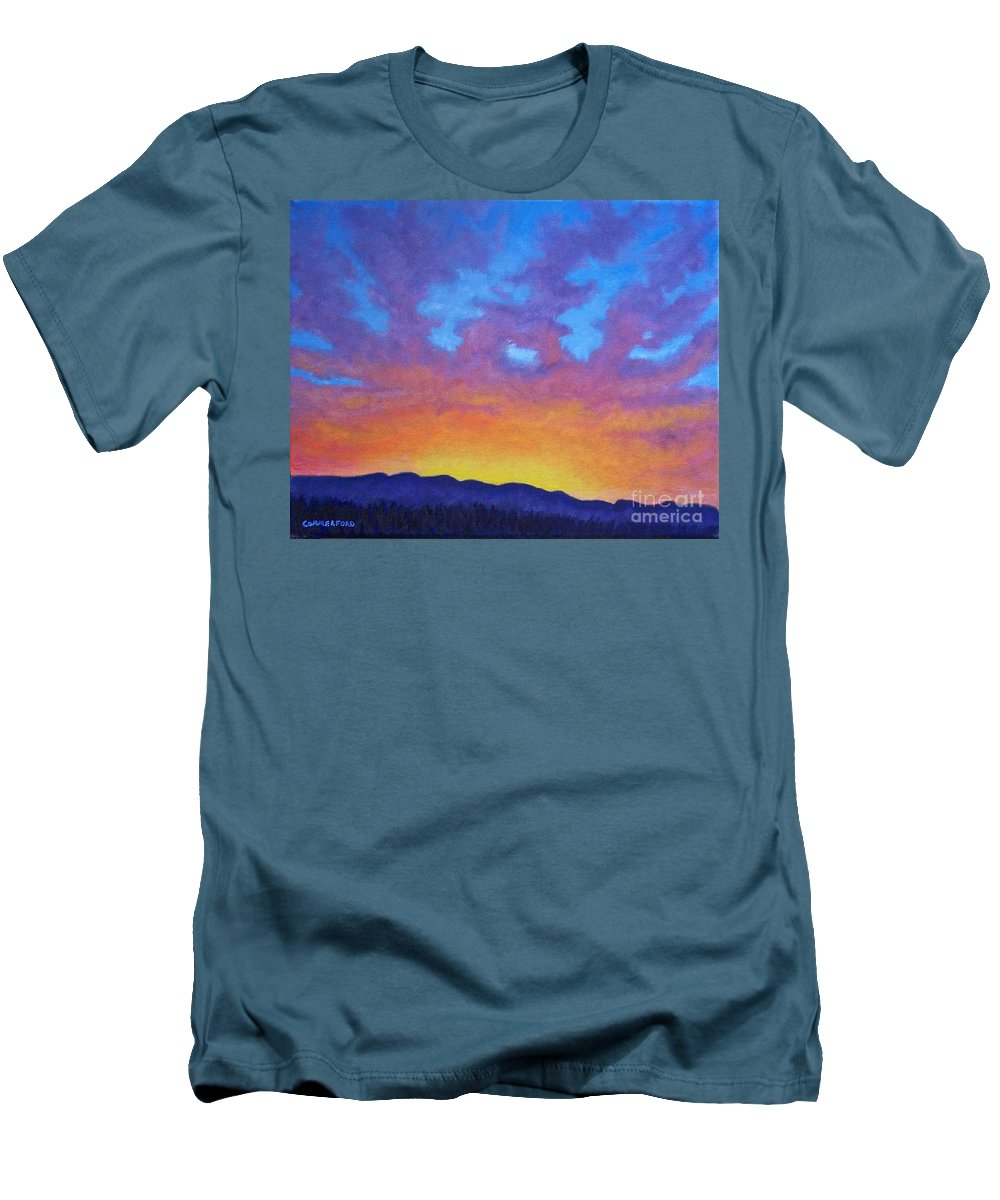 Landscape Men's T-Shirt (Athletic Fit) featuring the painting Radiance by Brian Commerford