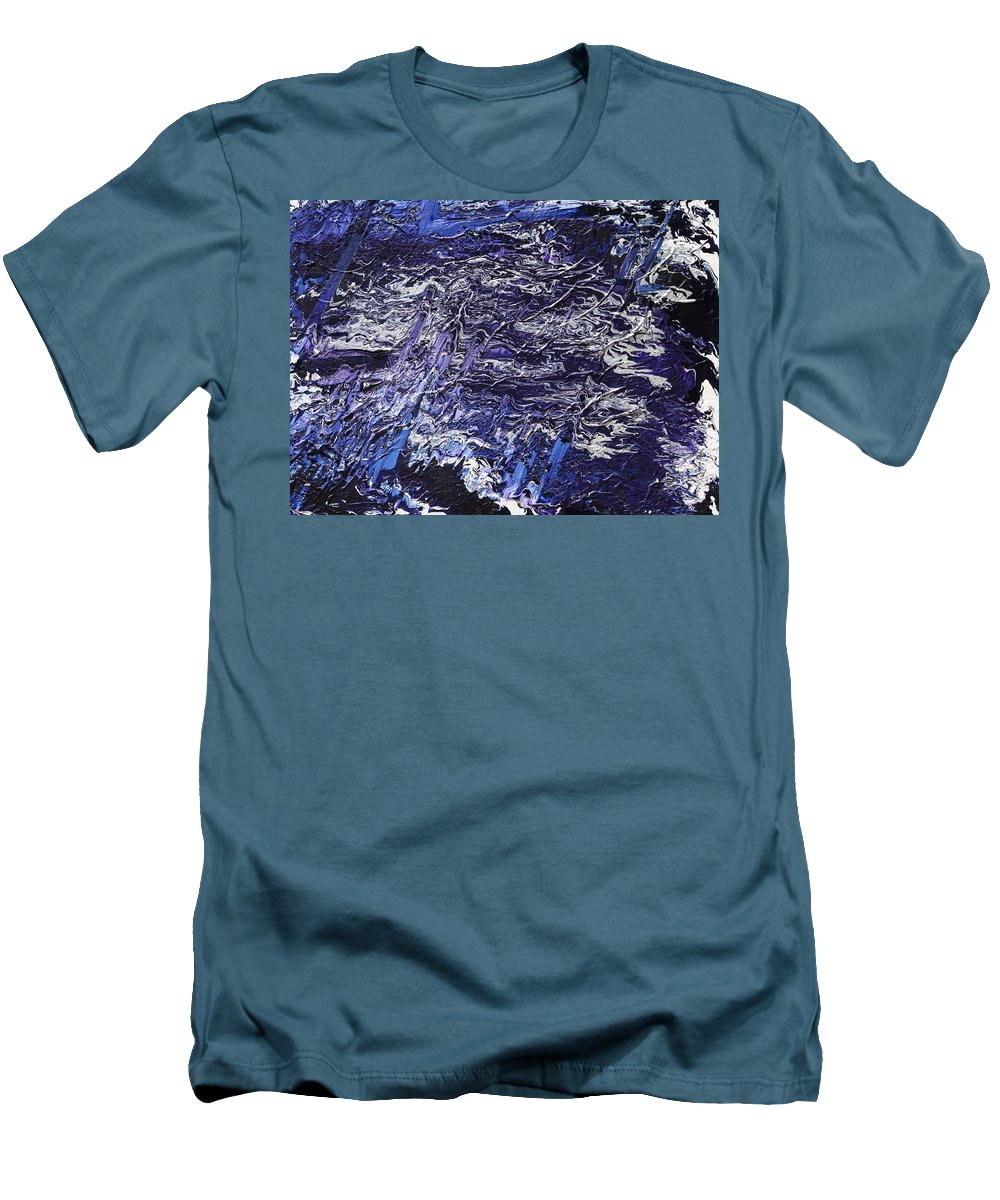 Fusionart Men's T-Shirt (Athletic Fit) featuring the painting Rapid by Ralph White