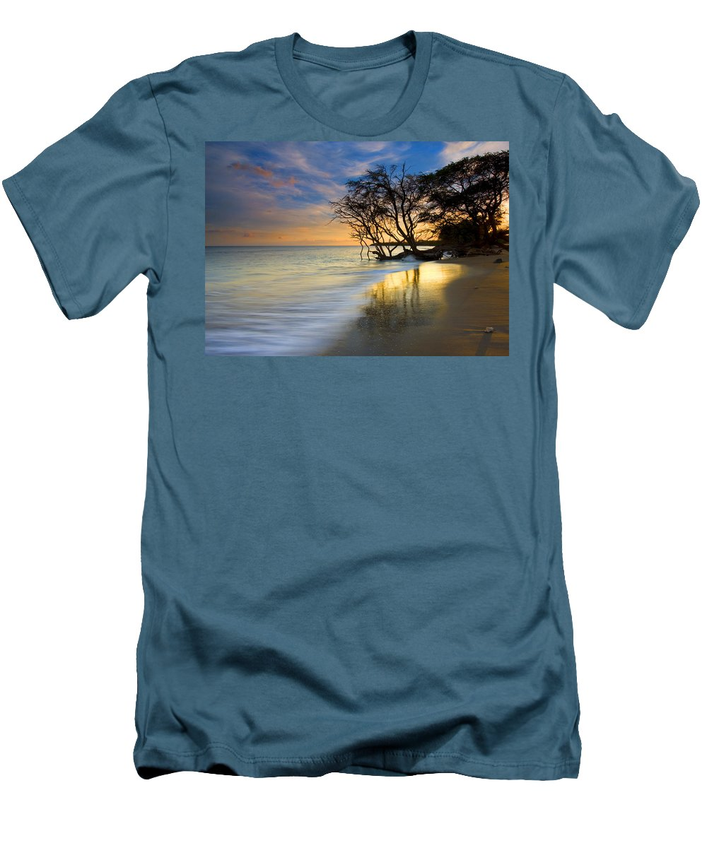 Waves Men's T-Shirt (Athletic Fit) featuring the photograph Reflections Of Paradise by Mike Dawson
