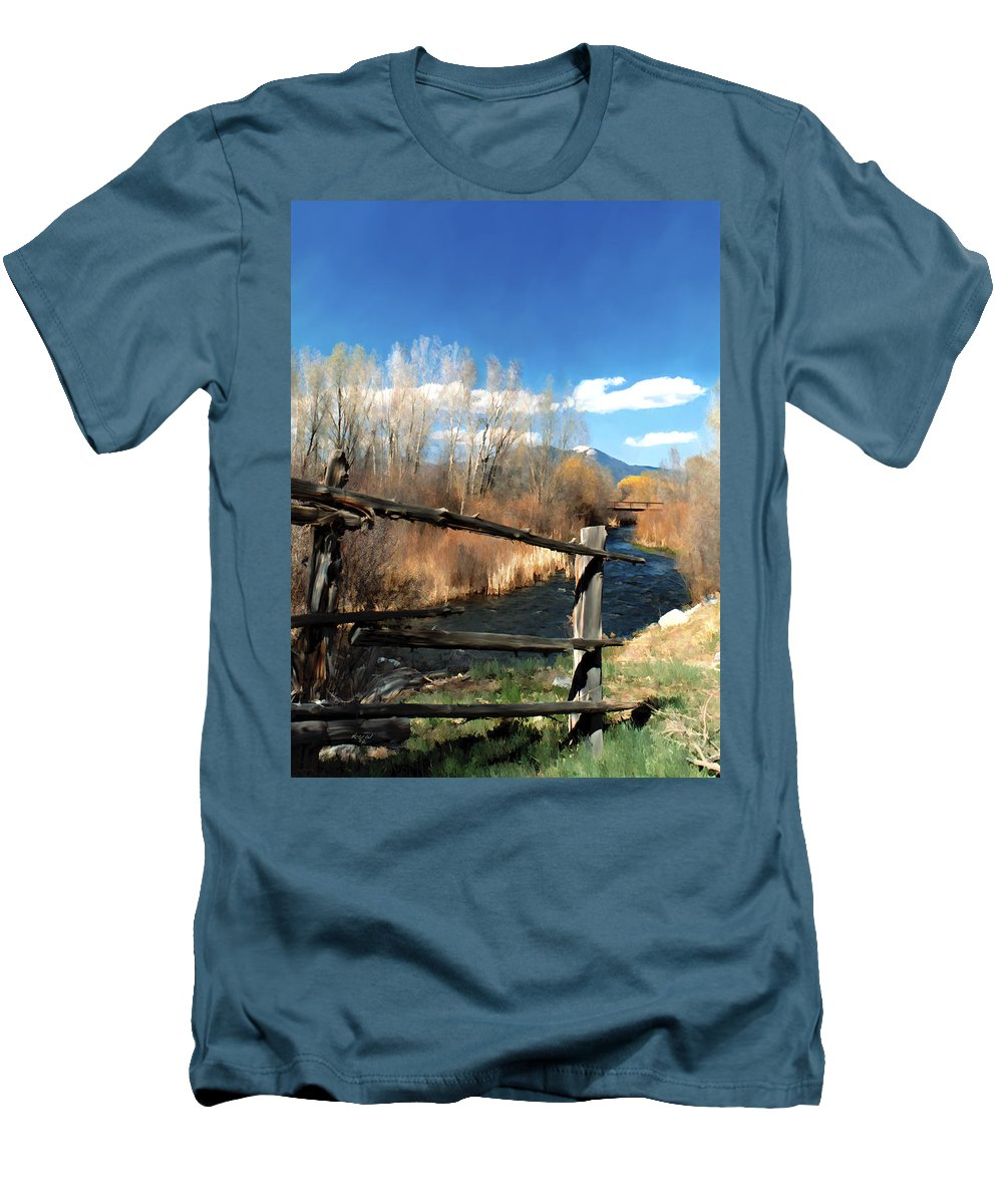 River Men's T-Shirt (Athletic Fit) featuring the photograph Rio Pueblo by Kurt Van Wagner