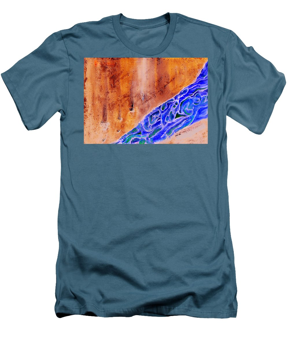 Life Flow River Water People Birth Men's T-Shirt (Athletic Fit) featuring the mixed media River Of Life by Veronica Jackson