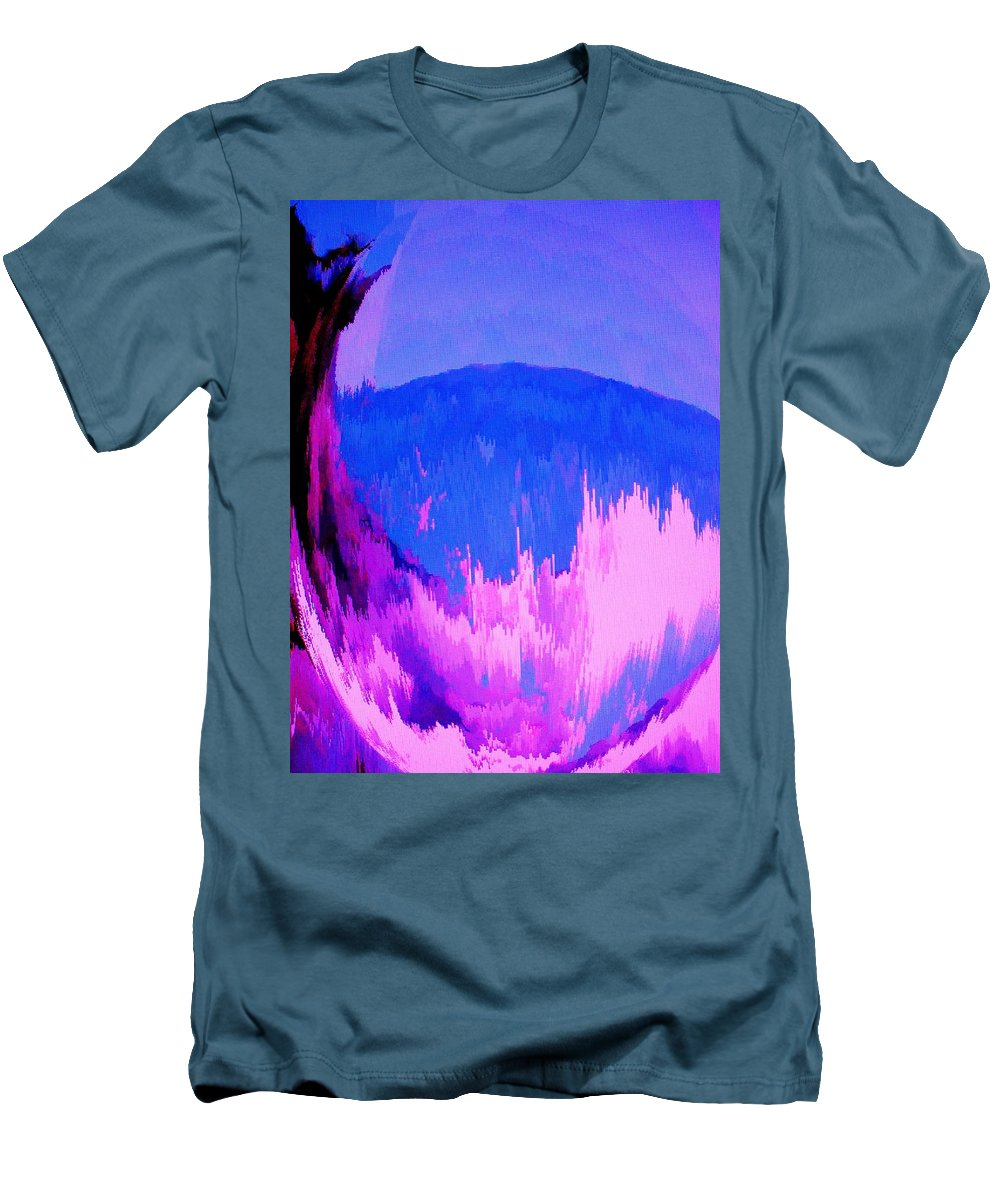 Abstract Men's T-Shirt (Athletic Fit) featuring the digital art Rough Seas In Dominica by Ian MacDonald