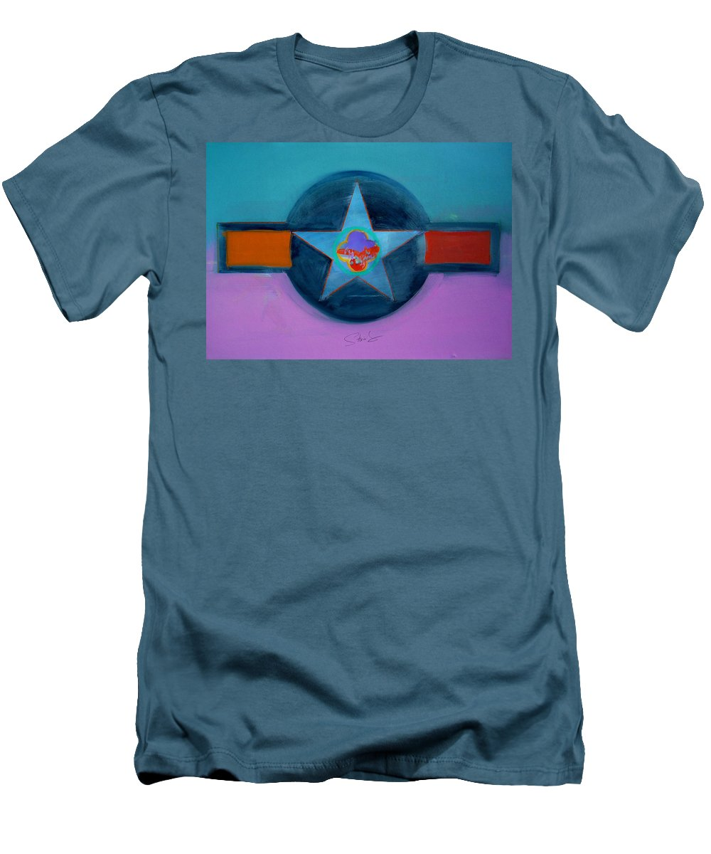 Star Men's T-Shirt (Athletic Fit) featuring the painting Rust Or Bust by Charles Stuart