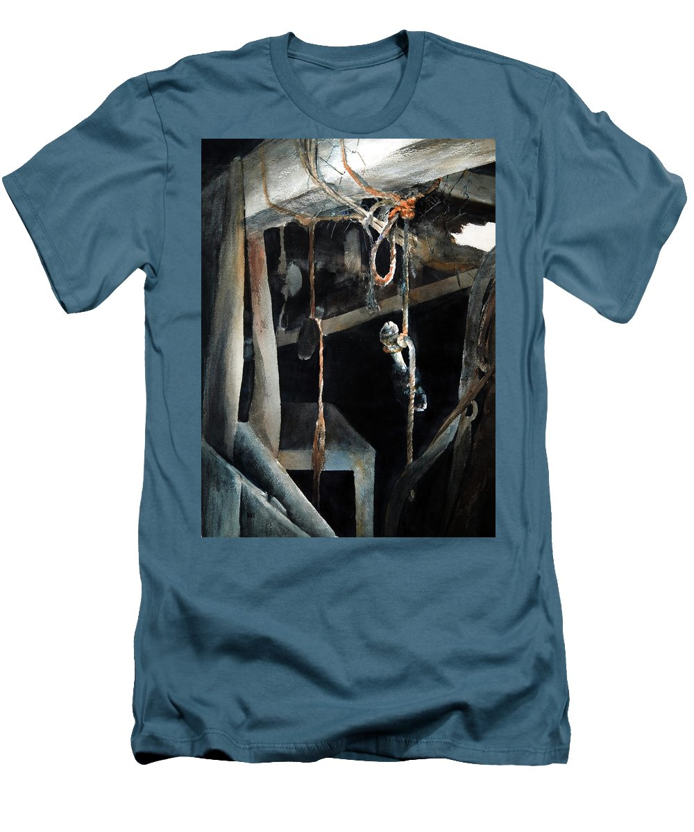 Abstract Men's T-Shirt (Athletic Fit) featuring the painting Sacrifice by Rachel Christine Nowicki
