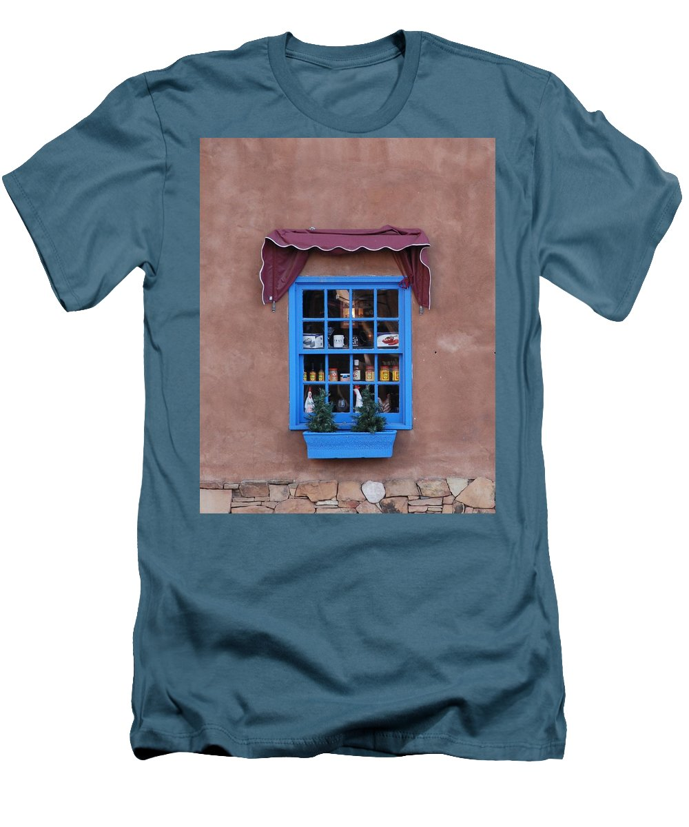Architecture Men's T-Shirt (Athletic Fit) featuring the photograph Santa Fe Window by Rob Hans