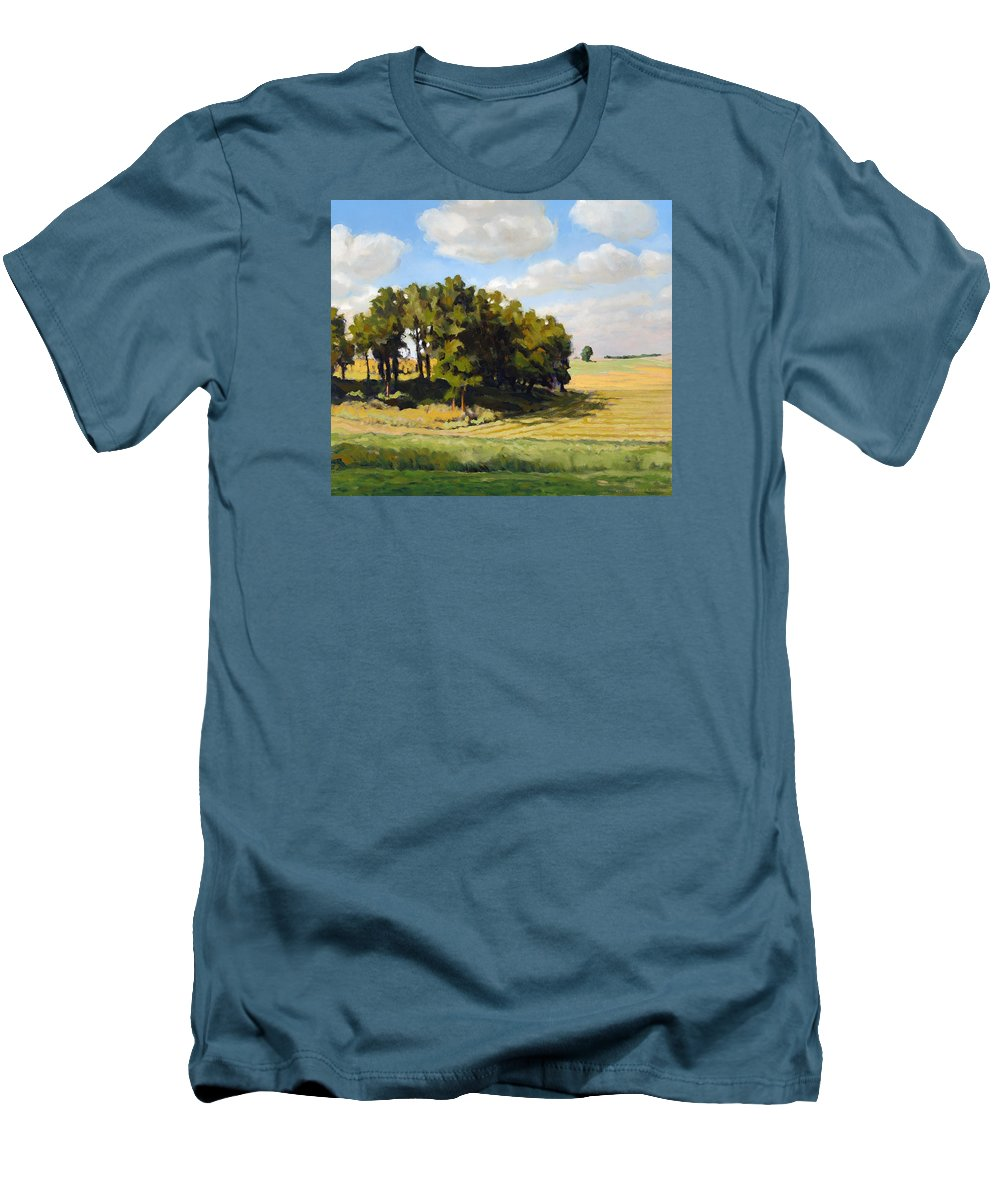 Landscape Men's T-Shirt (Athletic Fit) featuring the painting September Summer by Bruce Morrison