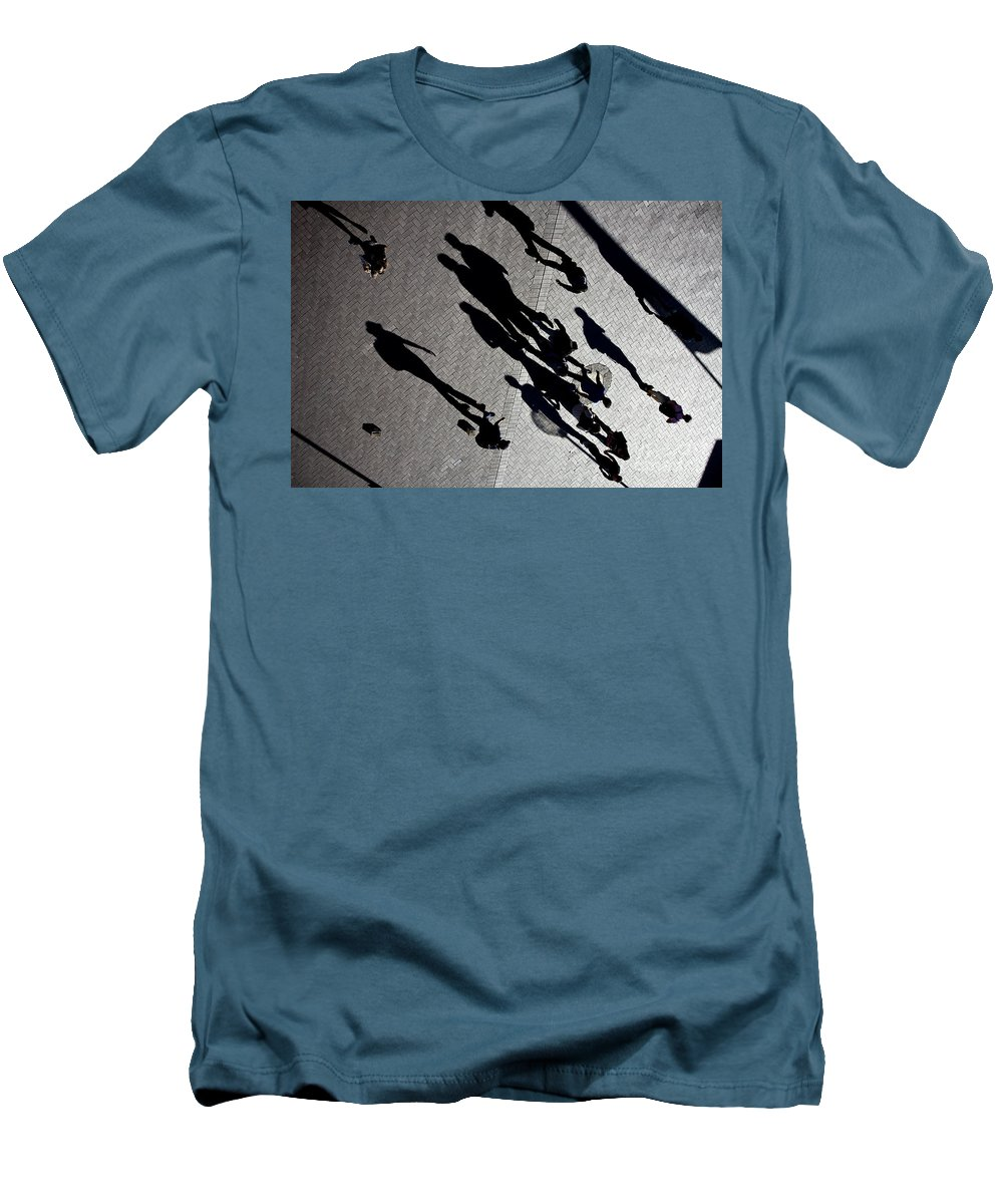 Shadows People Abstract Men's T-Shirt (Athletic Fit) featuring the photograph Shadows by Avalon Fine Art Photography