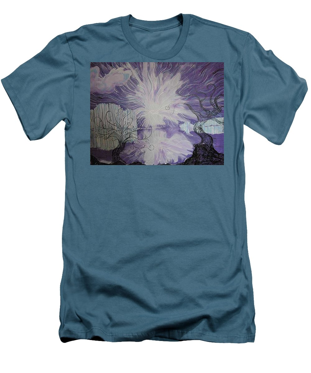 Squiggleism Men's T-Shirt (Athletic Fit) featuring the painting Shore Dance by Stefan Duncan