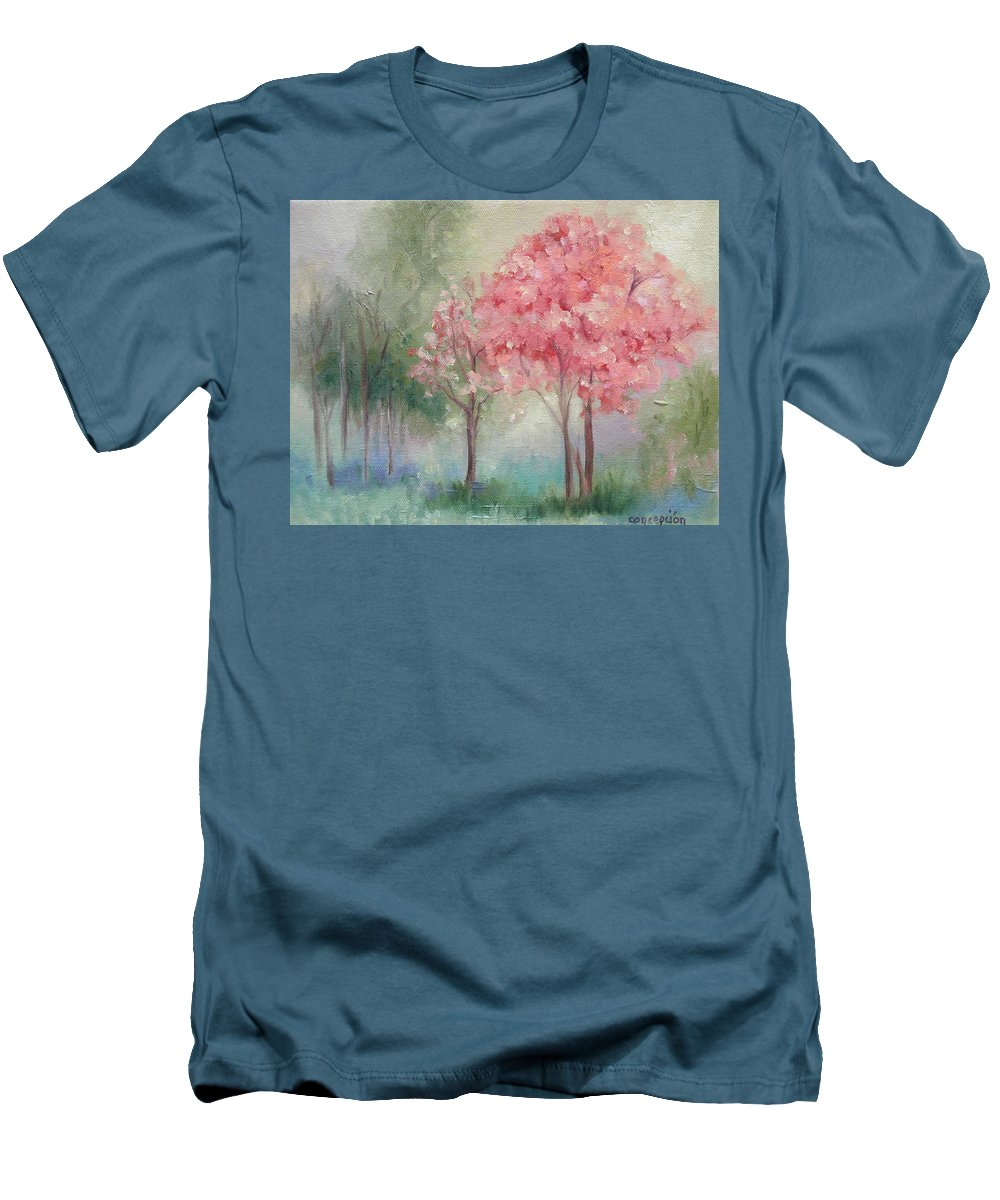 Spring Men's T-Shirt (Athletic Fit) featuring the painting Sign Of Spring by Ginger Concepcion