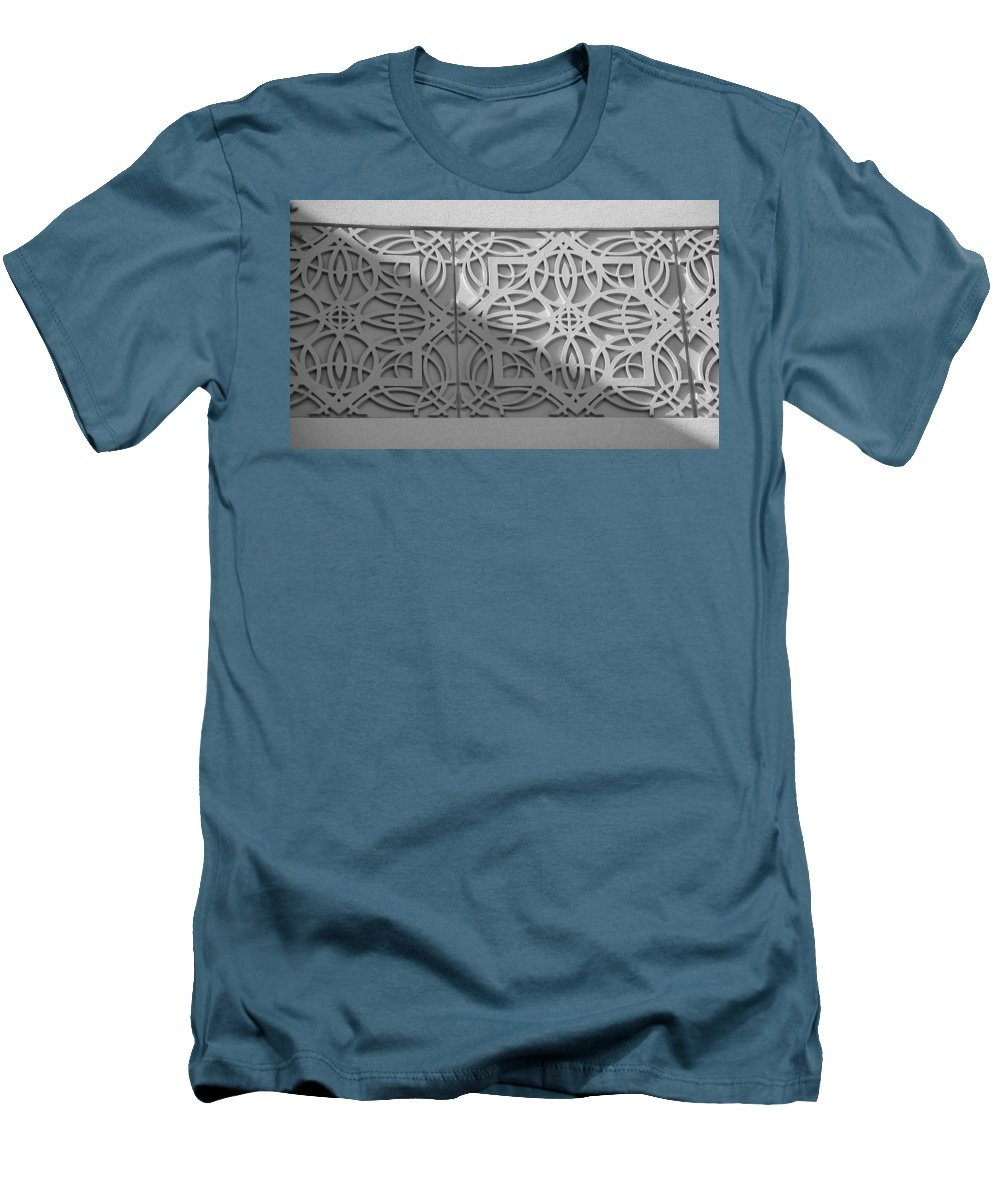 Black And White Men's T-Shirt (Athletic Fit) featuring the photograph Sliced by Rob Hans