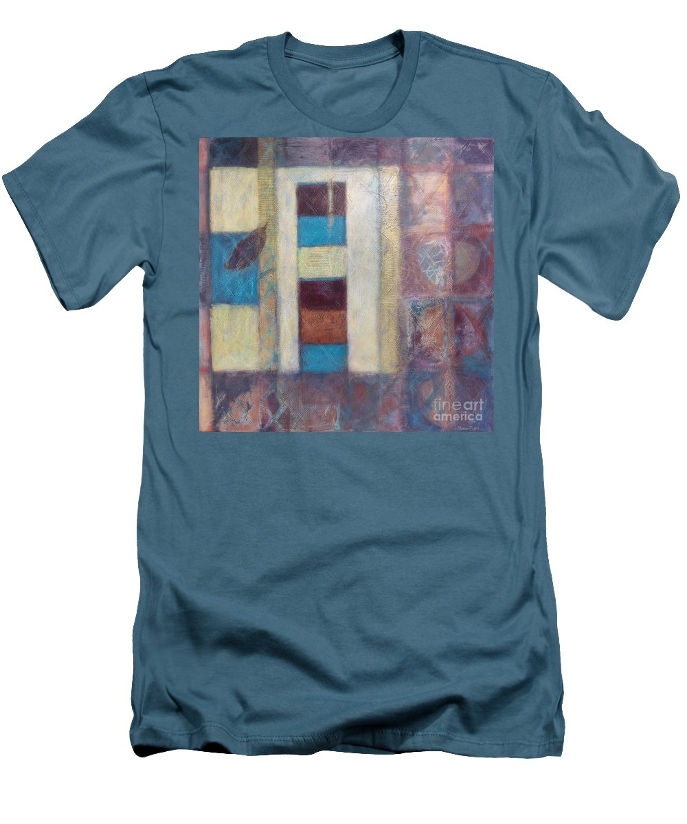 Spiritual Men's T-Shirt (Athletic Fit) featuring the painting Spirit Of Gold - States Of Being by Kerryn Madsen- Pietsch