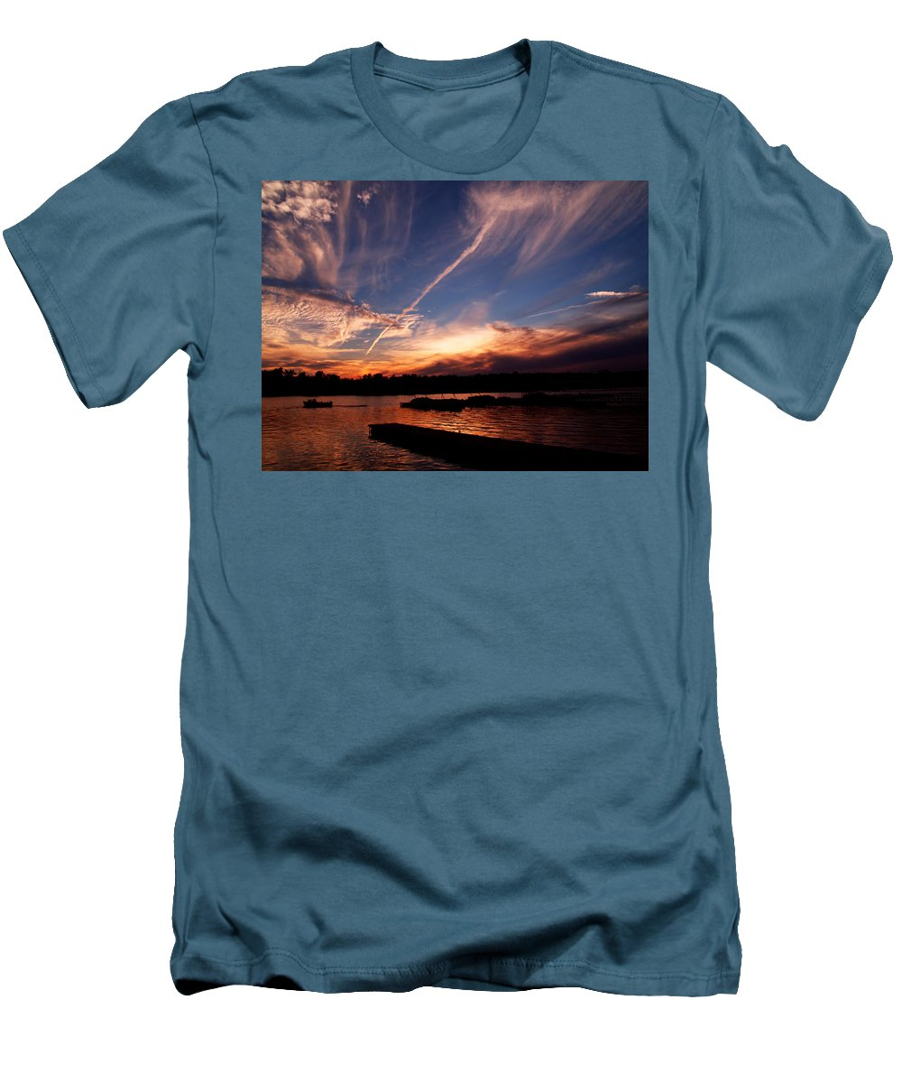 Sky Men's T-Shirt (Athletic Fit) featuring the photograph Spirits In The Sky by Gaby Swanson