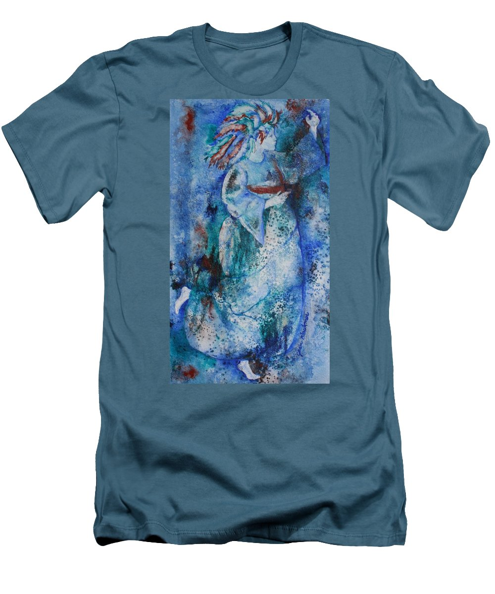Abstract Men's T-Shirt (Athletic Fit) featuring the painting Star Dancer by Jean Blackmer
