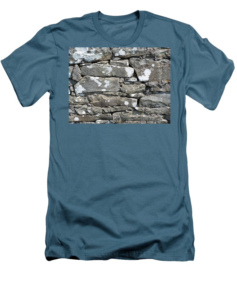 Irish Men's T-Shirt (Athletic Fit) featuring the photograph Stone Wall Detail Doolin Ireland by Teresa Mucha