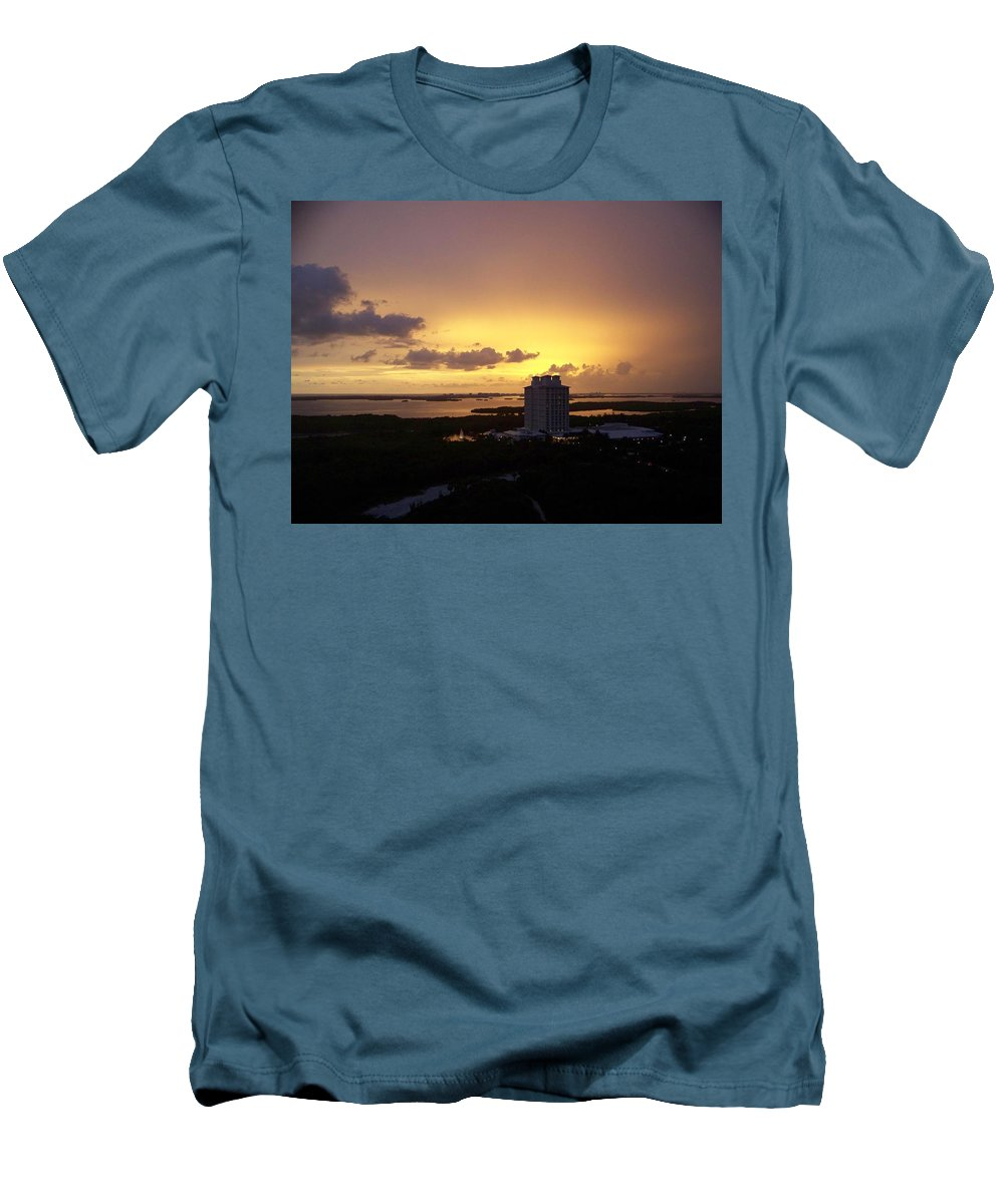 Sunset Men's T-Shirt (Athletic Fit) featuring the photograph Sunset 0003 by Laurie Paci