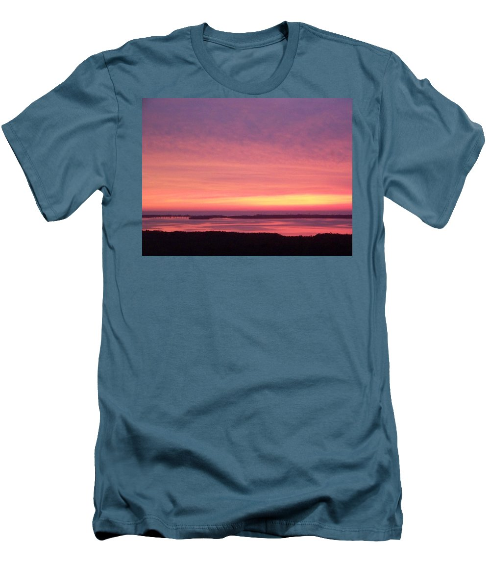 Sunset Men's T-Shirt (Athletic Fit) featuring the photograph Sunset 0029 by Laurie Paci