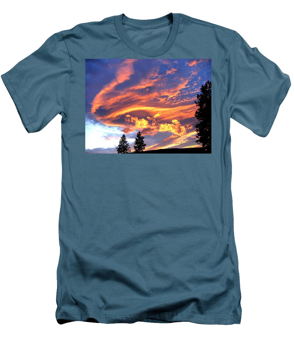 Sunset Men's T-Shirt (Athletic Fit) featuring the photograph Sunset Extravaganza by Will Borden